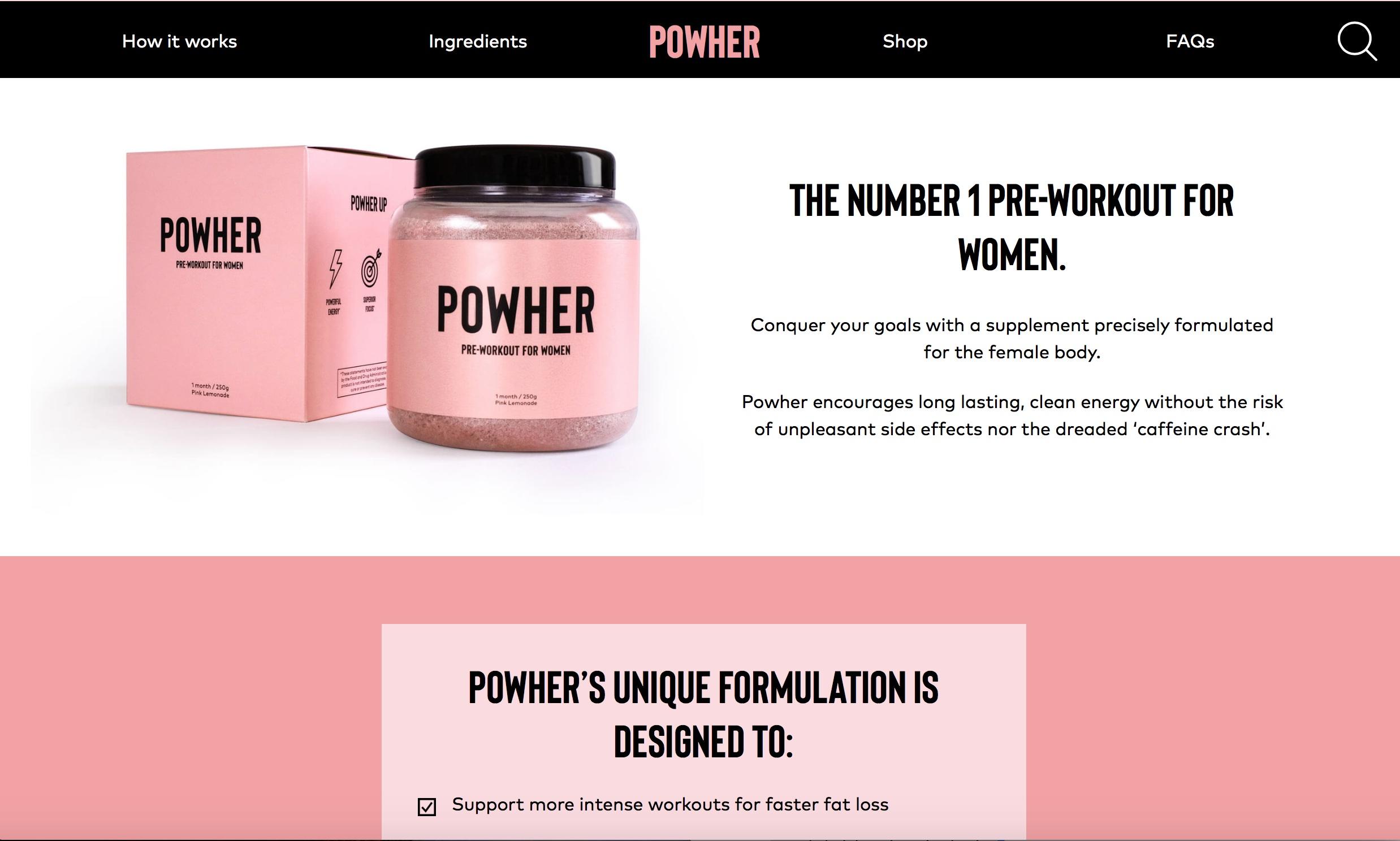 powher website